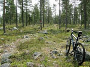 Här var det dock svårare att cykla!