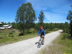 Ulf snart framme vid Fjällgutusjön