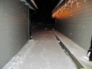 Passage mellan hus och garage klar...