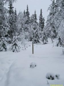 Här mäts snödjupet