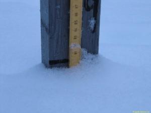 78 cm vid snöpinnen