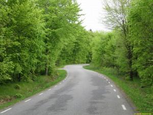 Fina småvägar med lite trafik