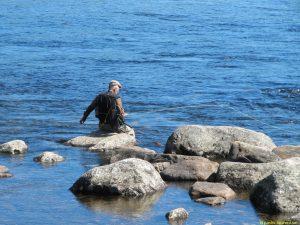 Flugfiske vid Isterfossen